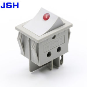 On off iluminado 220V 4 Polo gris conmutador basculante con LED DOT