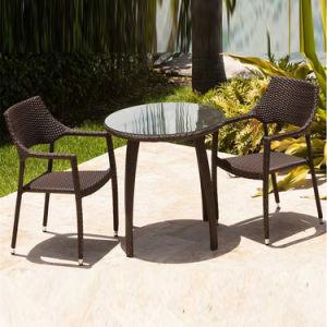 Pátio comercial moderna mesa de jantar presidir Mobiliário de exterior as medulas Conjunto Bistro de vime