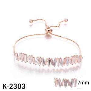 925 Silver Jóias de mulheres bracelete de diamantes