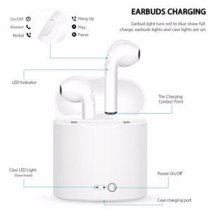 I7s de Tws auriculares Bluetooth estéreo auriculares auriculares inalámbricos auriculares intrauditivos con caja de carga para ios y Android