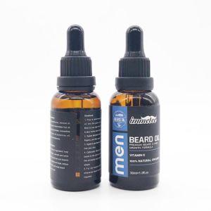 Les hommes de la barbe de l'huile organique OEM naturel de la croissance de l'huile essentielle de la barbe