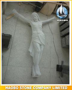 Steen Jesus op het Standbeeld van het dwars-Kruisbeeld