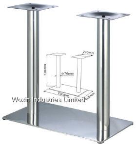 El metal de acero inoxidable mesa de comedor mesa de comedor de mármol de las piernas Base (23).
