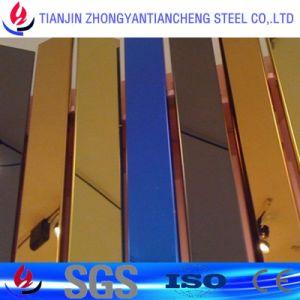 1.4301 het Blad van het Roestvrij staal van de Spiegel van 1.4404 Kleur met pvc voor Decoratie