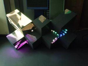 Triangle équilatéral de forme spéciale de synthèse du module Magic W L'affichage de forme