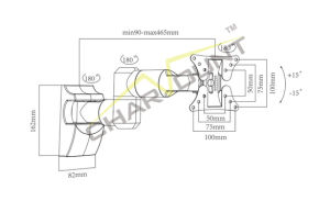LCD 텔레비젼 벽 마운트 팔 부류 마운트 (CT-LCD-T1601)