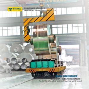 Reboque de transferência de manuseio de materiais para o transporte de bobinas de armazém