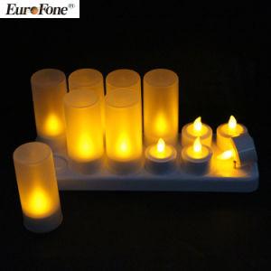 Conjunto de pilhas recarregáveis 12 LED LED Flameless velas decorativas