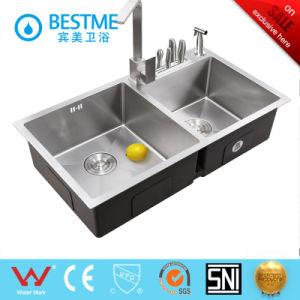 Hand-Made Techonology 304 pia de cozinha de aço inoxidável-7345