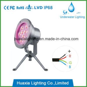 Foco LED de alta potencia bajo el agua de la luz de la piscina con trípode (IP68).