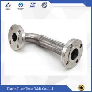 Tubo flessibile flessibile dell'acciaio inossidabile con il collegamento di estremità della flangia