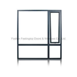 二重ガラスをはめるアルミニウム開き窓のWindowsかアルミニウムWindows (FT-W108)