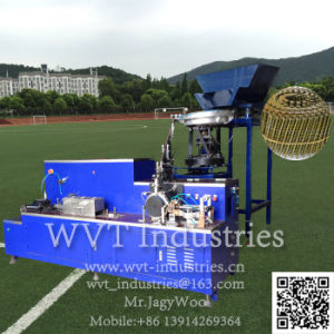 Mit veränderbarer Längenagel, der Maschine/Ring das Lassen des Maschinen-und Ring-Typen nageln lässt die Gewinde-Walzen-Maschine/Nagel Maschine verdrehend nageln
