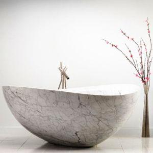 Badkuip van Italië Carrara van de Levering van de fabriek de Witte Marmeren voor Verkoop