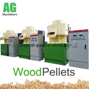 A linha de tomada de produção de pelotas de biomassa da casca de arroz serradura, Máquina de moinho de péletes de madeira