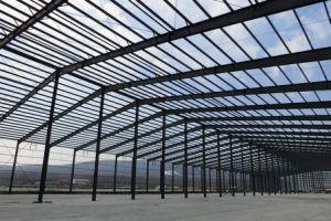 El aislamiento de fibra de vidrio la construcción de la estructura de acero prefabricados