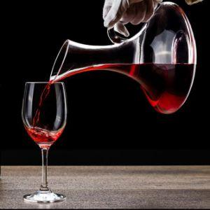 Decantatore di vetro europeo del vino del decantatore di cristallo senza piombo del vino con il decantatore del Carafe della maniglia