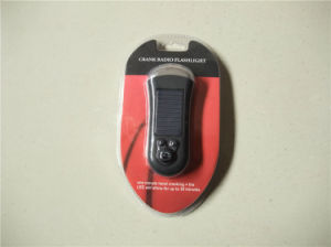 3 LED lampe de poche rechargeable solaire avec radio FM pour la survie