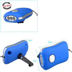 선전용 다이너모 LED 플래쉬 등 휴대용 짜기 수동 크랜크 플래쉬 등