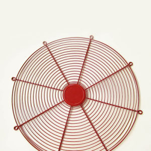 Pcv y recubiertos de metal galvanizado ventilador ventilador de Barbacoa, protector del ventilador de metal
