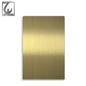 Strato decorativo dell'acciaio inossidabile della linea sottile dorata di 304 Cina