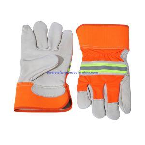 Cor bege Cowgrain Palm de couro luvas de trabalho, luvas de trabalho, trabalho Industrial, Luvas Luvas de protecção, luvas de couro, luvas de trabalho