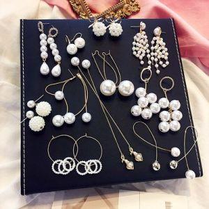 2867b5a0c9ed Personalidad Simple Pearl joyas aretes largos