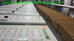 Esavior 100W tous dans une rue solaire extérieur éclairage lumière LED Lampe d'alimentation