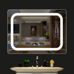 Décoration de haute qualité constituent l'habillage miroir avec lumière LED pour salle de bains dans l'hôtel
