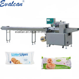 Lingettes humides pour bébé d'emballage automatique oreiller Sac machine de conditionnement