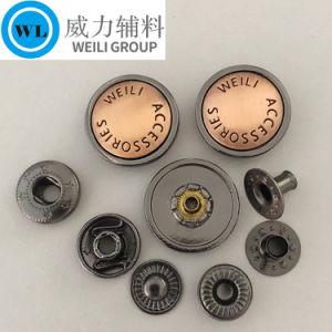 Botão de encaixe em várias cores, botão de metal para casaco e casaco, frisos de metal para vestuário de vestuário