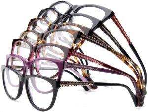 De online Nieuwe Optica van Eyewear van de Glazen van het Frame van het Metaal van de Acetaat van de Voorraad van de Rand van de Bevordering Klaar Volledige Optische voor Vrouwen