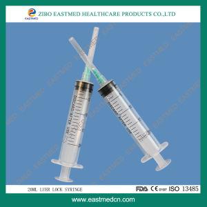Siringa a gettare medica della strumentazione di plastica ipodermica dello strumento con l'iso del Ce della serratura di Luer dell'ago