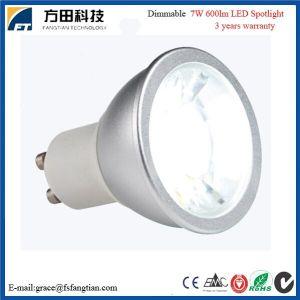 CER RoHS aufgeführte Dimmable LED Wechselstrom-230V 7W 600lm Scheinwerfer-Birne, PFEILER LED Scheinwerfer, GU10 LED Scheinwerfer