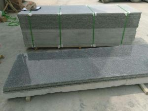 Bon marché de la pierre naturelle G654 en granit gris foncé