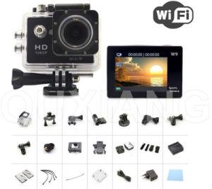 Kamerarecorder-video wasserdichter Nocken HD 1080P DV des Auto-Sj6000 Sports Kamera W9