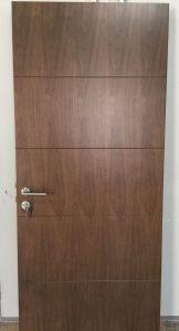 商業PUのラッカー黒いクルミの火の評価される木製のドア、内部の木のドア(内部ドア)