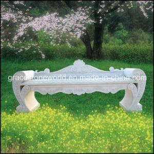 Lion Head (GS-TB-022)のMarble黄色いCarvedの庭Bench