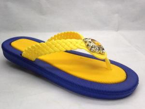 Mode de PVC et bascule électronique jaune confortable avec la courroie de guindineau (21JT1607)