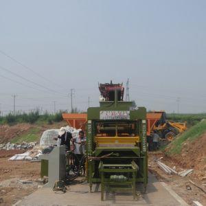 Qté5-15 Machine de moulage par blocs de béton / pavés à emboîtement caler la machine