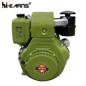 Air-Cooledディーゼル機関の贅沢な軍隊の緑色の電気開始(HR188FAE)