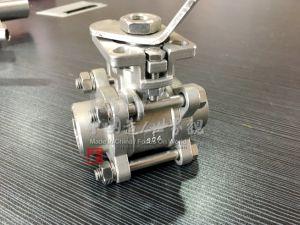 Valvola a sfera manuale dell'estremità di filetto dell'acciaio inossidabile 3PCS con 2000wog