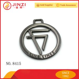 Concepteur d'usine de sac à main Tags en métal avec nom et logo