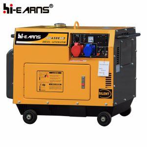 Air-Cooled tipo silenciosa de un cilindro de grupo electrógeno diesel (DG7500SE).
