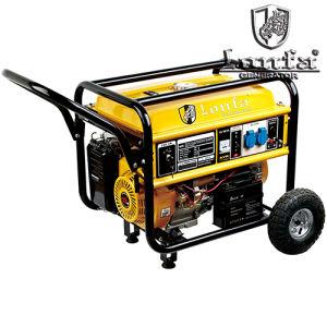 Potência forte 5.5kw gerador a gasolina com rodas e pega