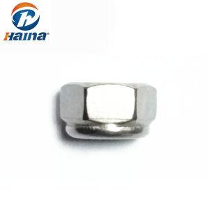 SS304 SS316 M12 DIN982 qui prévaut en acier inoxydable au couple les écrous hexagonaux de type épais avec insert non métalliques