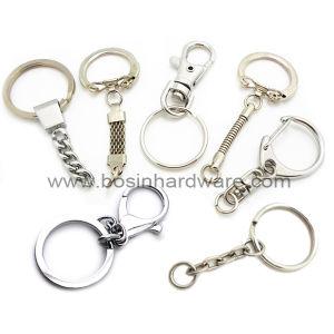 4 링크 사슬을%s 가진 Metall 편평한 열쇠 고리
