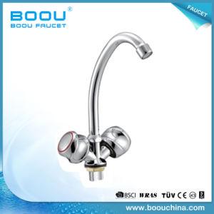 Matériau de zinc Boou vanne en laiton double bassin de la poignée du robinet