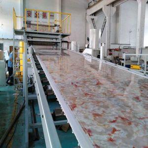Strato di marmo di plastica del PVC che fa macchina