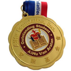 관례에 의하여 각인되는 3D 금속 명예 상이 기장 메달